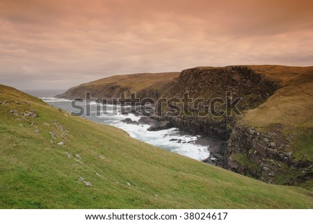 The north west coast of Stoer, Scotland, facing the Atlantic Ocean