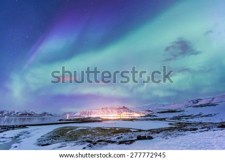 The Northern Light Aurora borealis at Kirkjufell Iceland #277772945