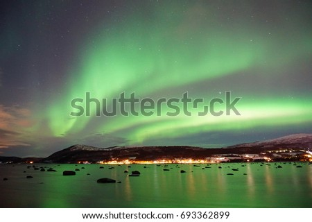 The northern lights  - Shutterstock ID 693362899