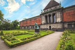 The Ny Carlsberg Glyptotek is an art museum in Copenhagen, Denmark with garden and Rodin's The Thinker