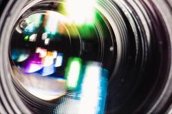 The objective lens closeup