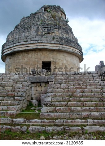 The Observatory at Chichen Itza, Cancun, Mexico.