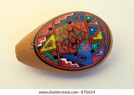 The ocarina is a Peruvian musical instrument made of clay