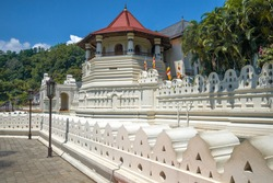 The Octagon Tower is the repository of the Buddha's tooth in the Shri Dalada Maligawa temple. Royal Palace of Kandy. Sri Lanka