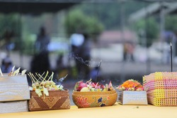 the offerings of Melasti in Seclusion Day of Hindu