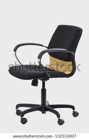the office chair on white background - stock photo