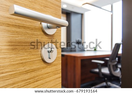 The office door was opened