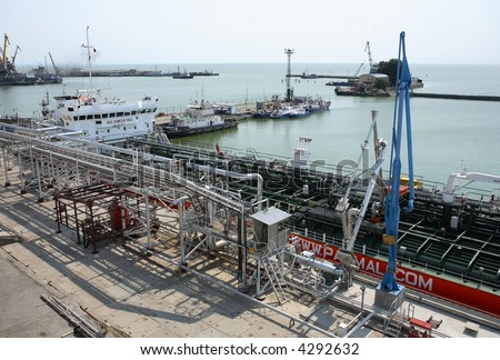 The oil terminal is in a picturesque bay.Transportation and storage of mineral oil.