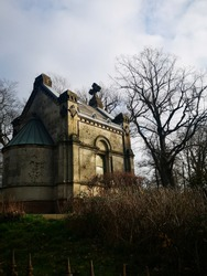 the old abandoned chapel in the the top of jugenheim in Germany