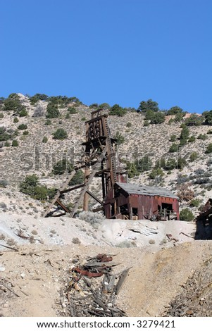 The old abandoned Kind David Mine found in southern Utah. - stock photo