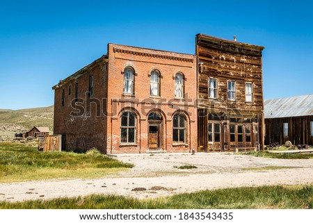 The old abandoned Post Office and I.O.O.F. Lodge in Bodie, California. Zdjęcia stock ©