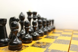 The old black chess figures