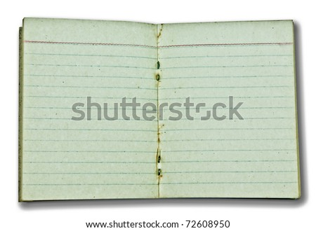 The Old blank paper isolated on white background