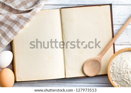 the old blank recipe book