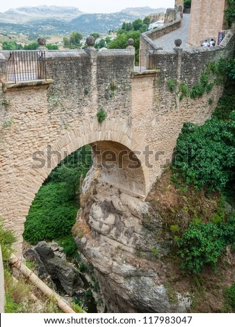 The Old Bridge in Ronda, Spain