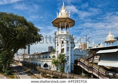 The old building of Kuala Lumpur railway station Stok fotoğraf ©