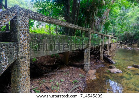 the old cement bridge in the...