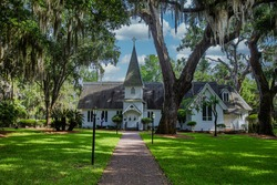 The old Christ Church on Saint Simons Island, Georgia