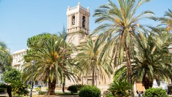 The old Church in Valencia, Ayora summer