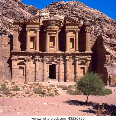 The old city of Petra in Jordan was carved out the rocks. It is now an UNESCO World Heritage site.