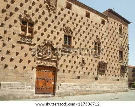 The old city of Salamanca was declared a UNESCO World Heritage site in 1988. Casa de Las Conchas was built in the late 15th century and is of Gothic civil style..