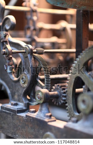 The old clock mechanism in Rhodes town, Greece