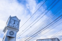 The old clock tower of chiang rai thailand.