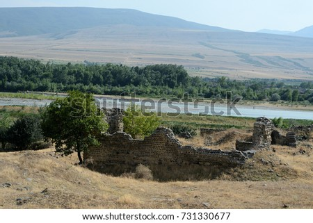 The old destroyed building on the mountainside, Georgia #731330677