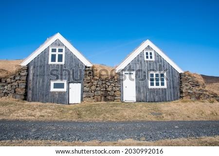 The old farmhouse of Sel in the hills of Skaftafell in Vatnajokull national park Stock fotó ©