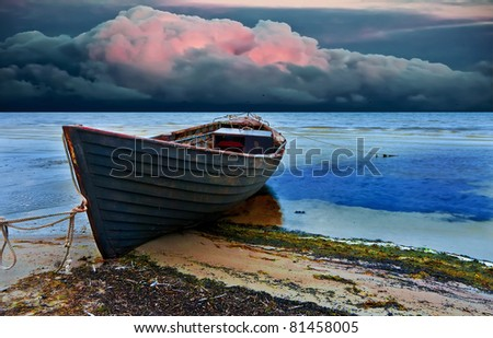 The old fishing boat, Baltic Sea