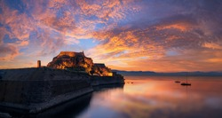 The old fortress of Corfu town in Greece