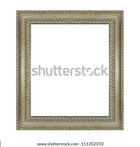 The old frame isolated on the white background
