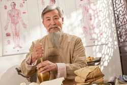 The old grinding of Chinese herbal medicine of traditional Chinese medicine