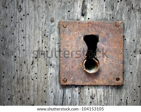 the old keyhole - stock photo