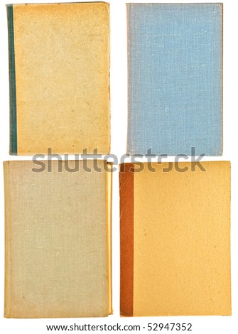 The old lids of books are isolated on a white background