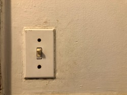 The old light switch panel