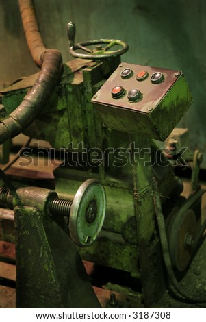 The old machine tool at a factory