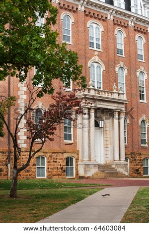 The Old Main - oldest building on the University of Arkansas campus