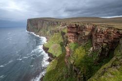 The Old Man of Hoy, a sea stack on Hoy, Orkney Islands, Scottish Highlands.
