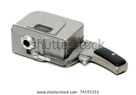 the old manual camera isolated on white background