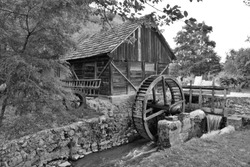 the old mill on the water