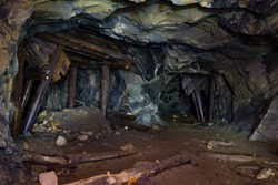 The old mine. Tunnels