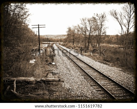 The old New York, Susquehanna and Western Railroad