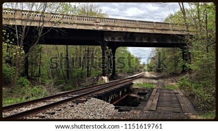 The old New York, Susquehanna and Western Railroad passing under NJ Route 23