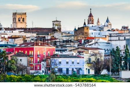 the old part of the Town, Badajoz, Extremadura, Spain,