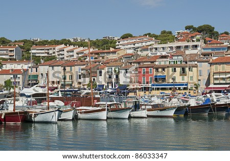 "The old port of ""Cassis"" in South France"