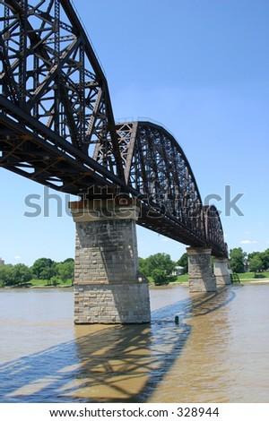 The Old Railroad Bridge over the Ohio River.