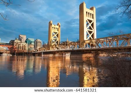 The Old Sacramento Bridge #641581321