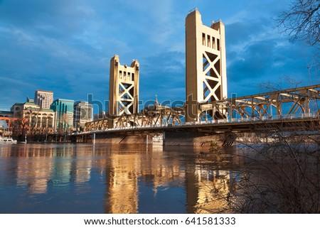The Old Sacramento Bridge #641581333
