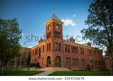 The old sandstone Coconino County courthouse dating from 1894 in Flagstaff Arizona USA.